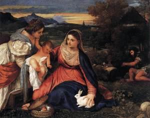 Tizian Maddona Rabbit